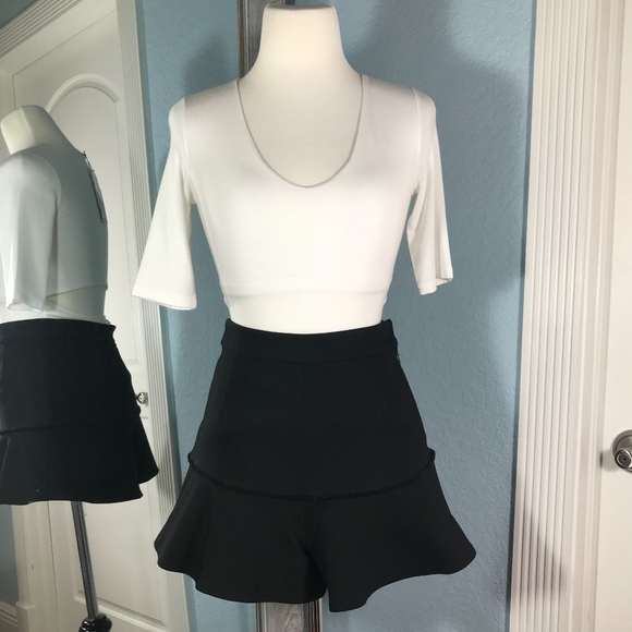 1bd9f0bddc Alexis Pants - Alexis High Waisted Flare Shorts Black